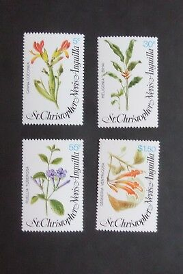St Christopher Nevis Anguilla 1979 Local Flowers SG417/20 MNH UM unmounted mint