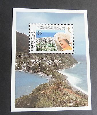 Dominica 1992 40th Ann Accession MS MNH UM Unmounted mint