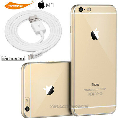 Clear Soft Silicone Gel Case Skin Glass Screen 3m Charging Cable F iPhone 6/6S+