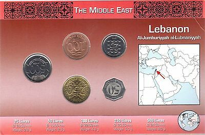 Lebanon 5 Coin Set