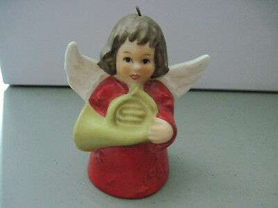 1982 Goebel ANGEL BELL ORNAMENT Red With French Horn