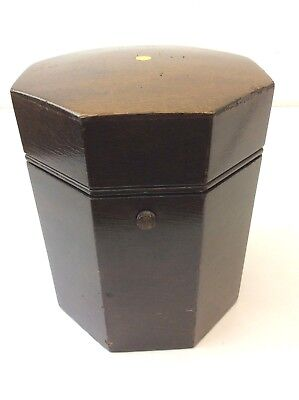 Vintage Wood Pat 2052826 Octagonal Cigar Humidor Case Box Wooden Used Old