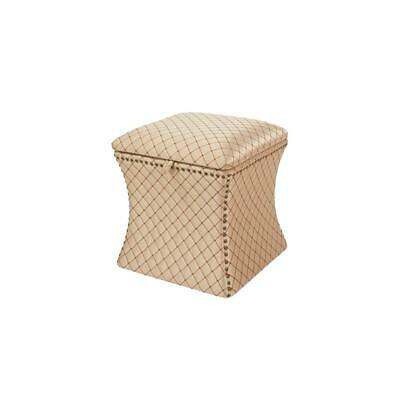 Jennifer Taylor Home Holly Concaved Storage Ottoman