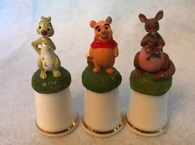 Set of 3 Disney Classic Pooh Thimbles FREE SHIPPING