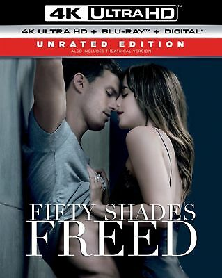 FIFTY SHADES FREED (4K + Blu-ray + Digital) New W/ Slipcover - Free Shipping