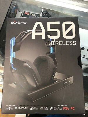Astro Gaming A50 Wireless Headset + Base Station PC/PS4 - Black, Newest Model