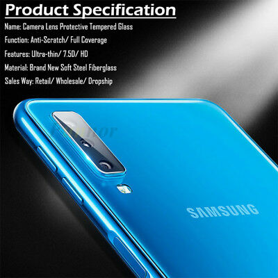 For Samsung Galaxy A7 2018 Transparent Back Camera Lens Tempered Glass Protector