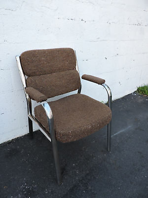 Vintage Chrome Office Side Chair Made in Canada by Global 7163