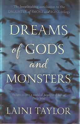 SIGNED Dreams of Gods and Monsters by Laini Taylor Brand New Reprint Hardback