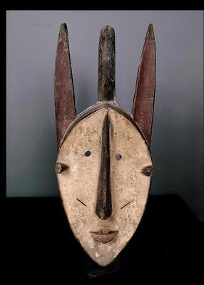 Outstanding Tribal Guerre Wobe Mask      --  Coted'Ivoire