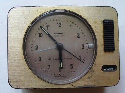 Vintage Staiger Exclusiv Travel Alarm Clock. Parts/Spares/Repair. West Germany