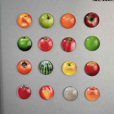 12pcs Fruit Refrigerator Magnets Round Whiteboard Magnets for Home School Office