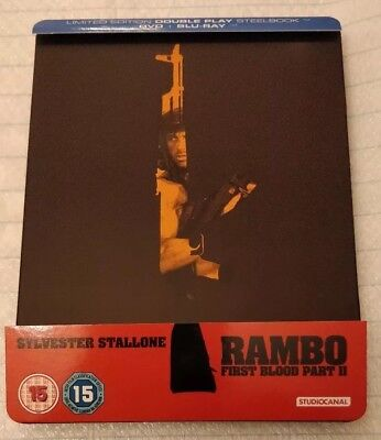 Rambo: First Blood Part 2 Limited Edition Blu-ray Steelbook Zavvi Exclusive OOP