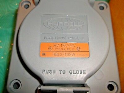 Hubbell HBL2710SW Safety Shroud Twist Lock 30A 125/250V NEW Without Box