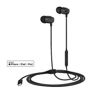 Lightning Headphones in-Ear Magnetic Earphones Earbuds w/ Mic for iOS iPhone
