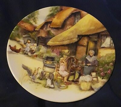 Royal Doulton Collector Plate: Old Country Crafts: The Spinner by Susan Neale