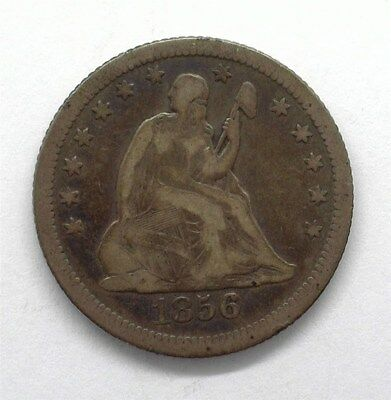 1856-O Seated Liberty Silver 25 Cents  Very Fine