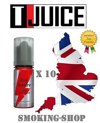 Red Astaire -T-JUICE- lot 10 x 10 ml - 12 mg.