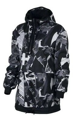 4da460741 NIKE WOMENS SPORTSWEAR Air Bomber Woven Jacket Black Size Med 854753 ...