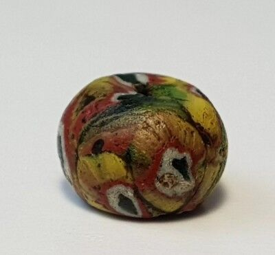 Ancient Rare Roman Mosaic Glass Bead