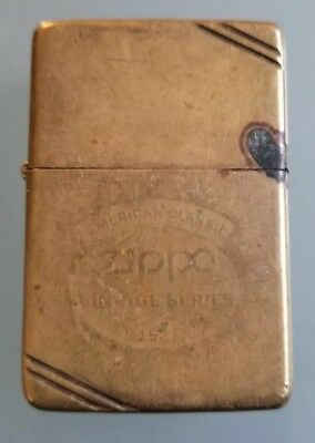 Zippo American Classic Vintage Series Lighter Brass Collectible No Reserve Look!