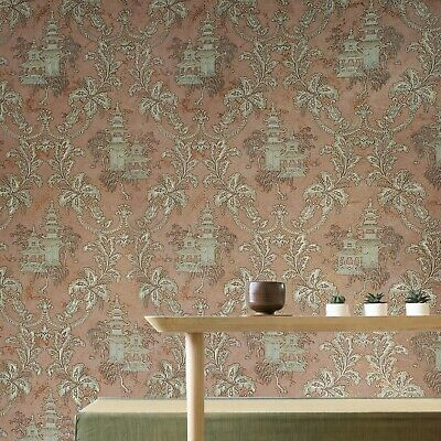 Wallpaper wall coverings textured roll grey Floral modern brick stone 3D effect