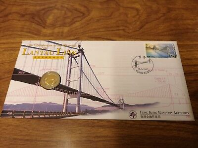 1997 Hong Kong $10 coin in a first day cover