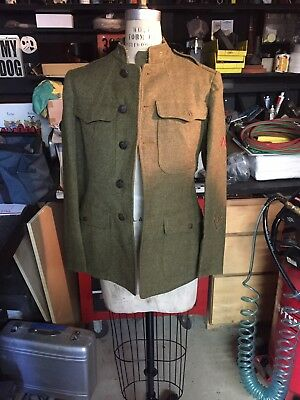 WWI US Army Enlisted Private Overseas Wool Tunic Jacket