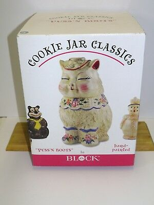Puss N' Boots Cookie Jar By Block New In Box