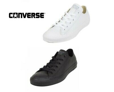 9a36553215b6 Converse C T All Star Ox Low Top white   mono black Leather Unisex Trainers