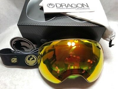 NEW Dragon X2 Gigi Ruff Black Gold Red Ion Mens Ski Snowboard Goggles Msrp$200