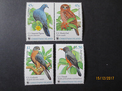No-1-- Christmas  Island  --2002  Bird  Issues  -4  Stamps  -Great  Lot