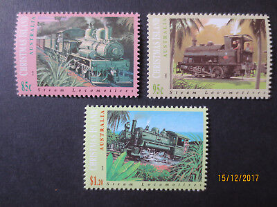 No-1---1994   CHRISTMAS   ISLAND  RAILWAY   ISSUED   STAMPS 3  -MINT