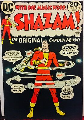( DC ) Shazam # 5 , 1973, VF/NM 9.0 Captain Marvel Jr Origin Retold
