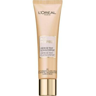 2 x L'Oreal Age Perfect BB Cream 30mL - Light/Medium or Medium/Dark