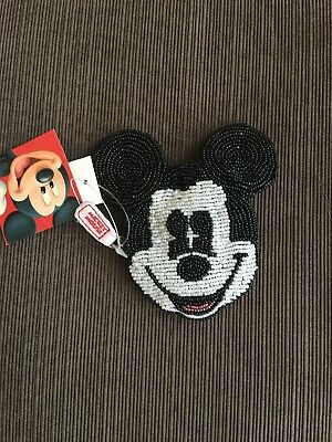 Mickey Mouse beads Coin Purse Disney Black Mickey Mouse Black Coin Wallet