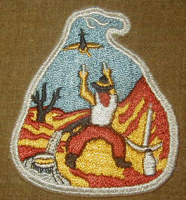 Original WWII U.S. Army 49th AA Brigade patch Wool D-Day Antiaircraft Unit