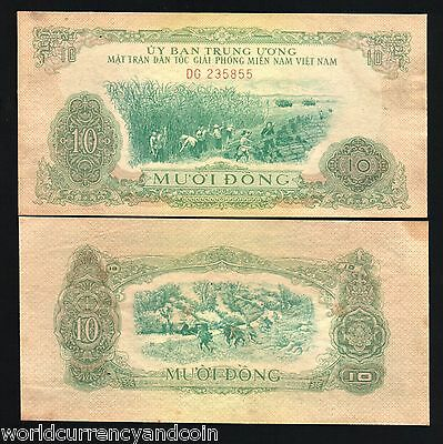 SOUTH VIETNAM 50 DONG P44 1966 TRACTOR FARM WORLD MONEY BILL ASIA BANK NOTE