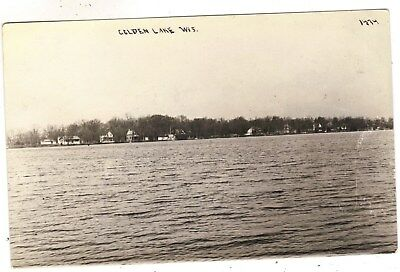 Golden lake Wis  Wisconsin old postcard 7auc 1/15/18