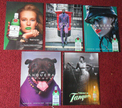 Lot of 40 Different TANQUERAY ENGLISH GIN Magazine Print Ads Clippings ~ Special