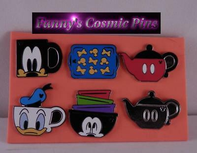 Disney 2018 Authentic Hidden Mickey Kitchen Items 6PC Trading Pin Set