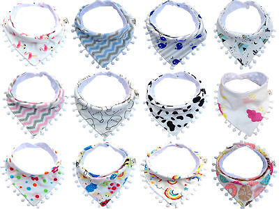 Cute Baby Infant Girls Boy Kids Saliva Towel Bandana Triangle Bibs Head Scarf