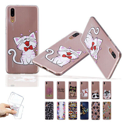 Transparent Clear Soft TPU Cover Case for Huawei P8 Lite 2017 P9 P10 P20 Pro