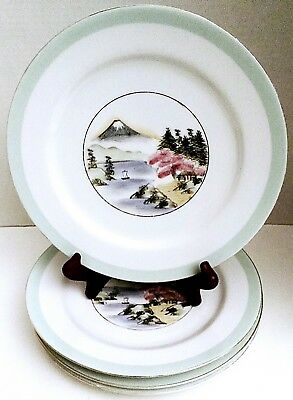 Kutani Dinner Plate, Vintage Plates, Japanese Plate, Hand Painted, Made in japan