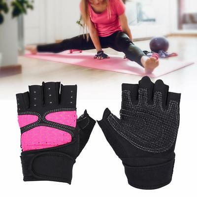 Gym Gloves Weight Lifting Fitness Bodybuilding Strength Training Wrist Leather T
