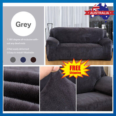 Sofa Covers Lounge Recliner 1 2 3 Seater Dining ArmChair Cover Plush Velvet