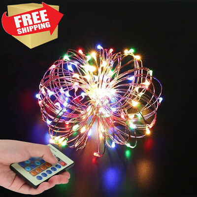 SZZCCC String Lights,Wire Light Dimmable With Remote Control, Colorful And...