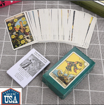 1Set Rider Waite Tarot Deck Vintage Future Telling Game Card Set with green box