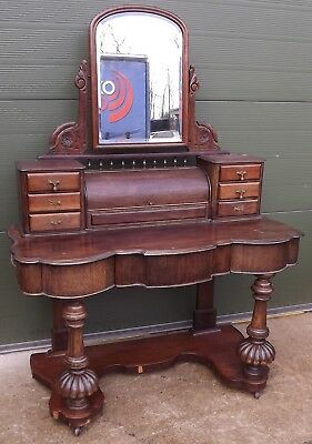 Antique Victorian Mahogany Duchess Dressing Table with Mirror - Needs Some TLC