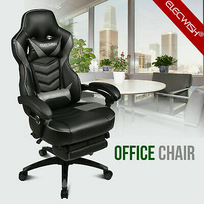 Ergonomic Mesh Back Racing Gaming Chair Office Computer Desk Sports Recliner Red